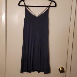 Blue summer dress.